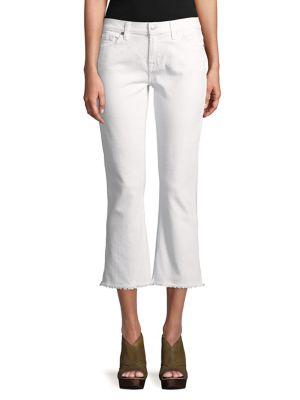 Cropped Frayed-Hem Jeans 500087931266
