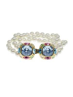 Kenneth Jay Lane - 8MM Pearl-Embellished Three-Row Bracelet