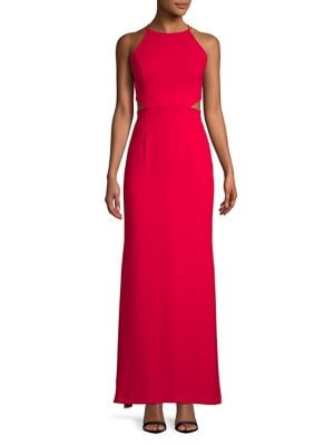 Image of Crepe Cutout Gown