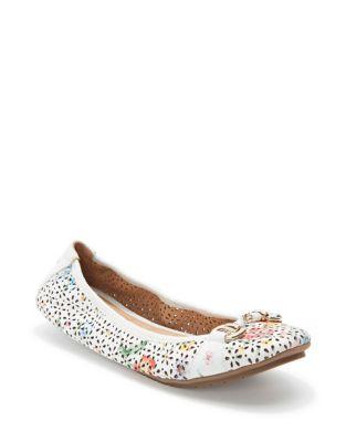 Luna Floral Leather Ballet...
