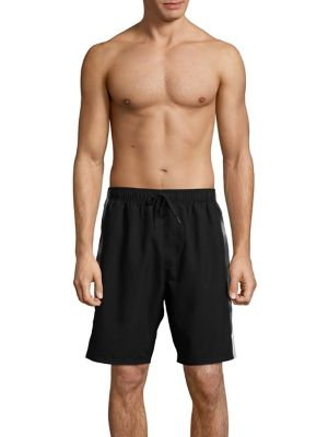 Side-Stripe Volley Shorts...