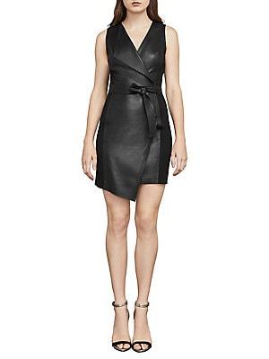 844c4aa4d25 BCBGMAXAZRIA - Layla Asymmetrical Pleather Dress