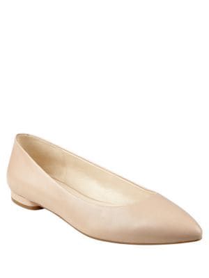Onlee Leather Point-Toe Flats by Nine West