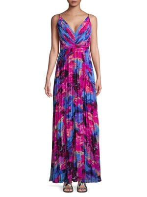 Pleated Floral Maxi Dress 500087972420