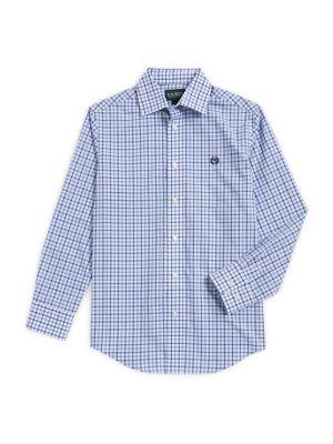 Boy's Checkered Collared Shirt 500087974775