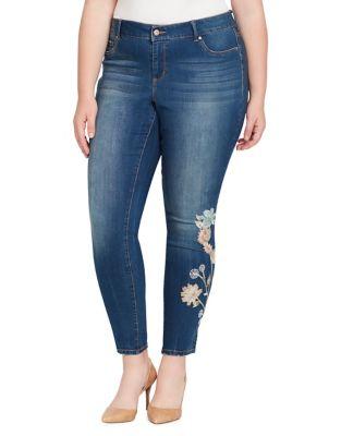 Plus Floral Kiss Me Super Skinny Jeans 500087979513