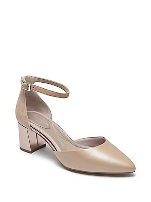 c14d4a4a8b Madia Scalloped Cutout Suede Pumps by Lord & Taylor