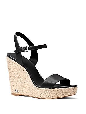 f419473dcf1 MICHAEL Michael Kors - Jill Leather Wedge Sandals