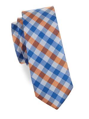Boy's Plaid Silk Tie...