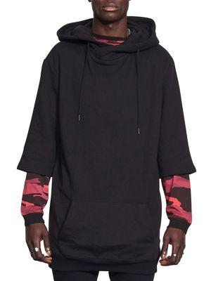 Hooded Half-Sleeve Fleece...