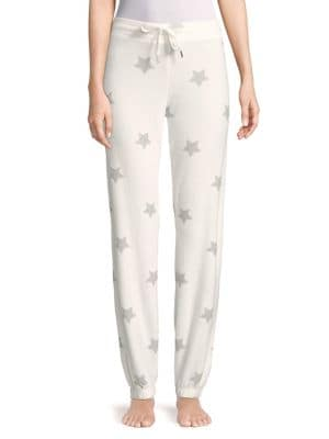 Pj Salvage STAR-PRINT PAJAMA PANTS