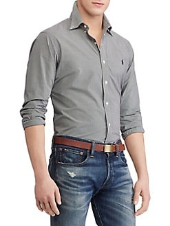 0a8e0caaa69 QUICK VIEW. Polo Ralph Lauren. Checkered Poplin Button-Down Shirt