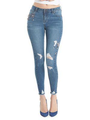 Faux-Pearl Skinny Jean 500087999425