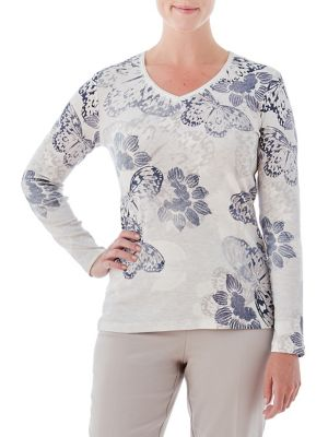 V-Neck Butterfly Tee...