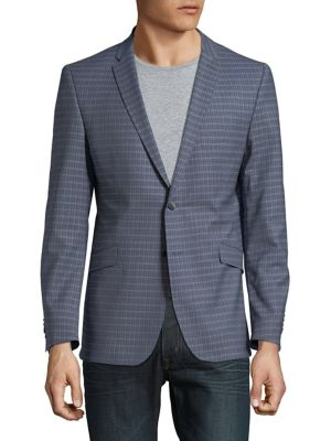 Slim-Fit Checkered Sportcoat...