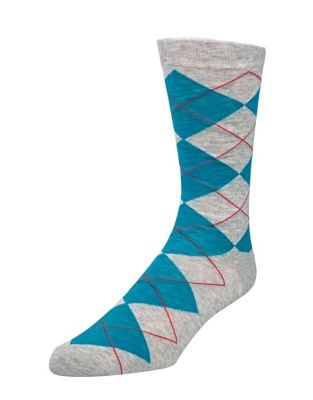 Argyle Crew Socks @...