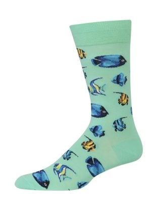 Tropical Fish Crew Socks...