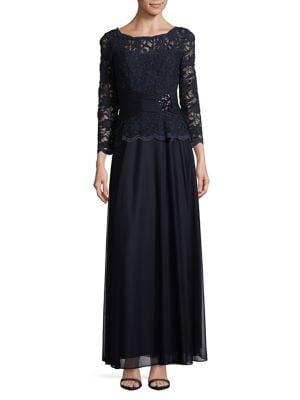 Floral Lace Gown 500088017519
