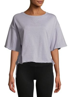 Side Lace Up Tee @...