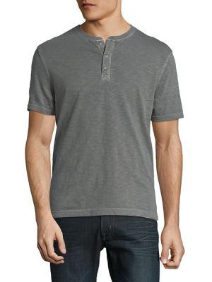 Short-Sleeve Cotton Henley...