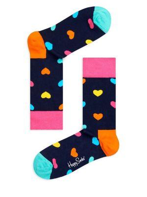 Heart-Print Socks @...