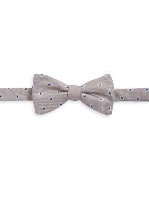 Paisley-Stitch Silk Bow...