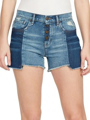 High-Rise Denim Shorts...