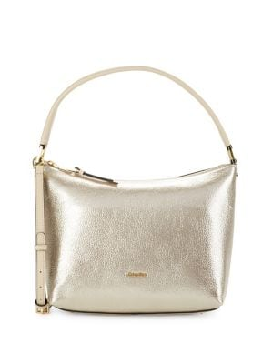 Angelina Metallic Leather Shoulder Bag