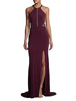 54378d364d07 QUICK VIEW. Glamour by Terani Couture. Cutout Halter Gown