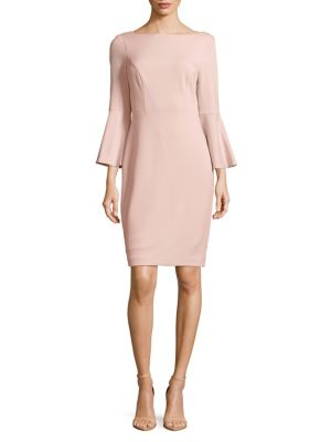 Bell-Sleeve Sheath Dress 500088044830
