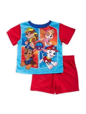 Baby Boys TwoPiece Paw Patrol Graphic Tee and Shorts Pajama Set