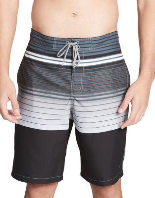 Stripe Swim Trunks @...