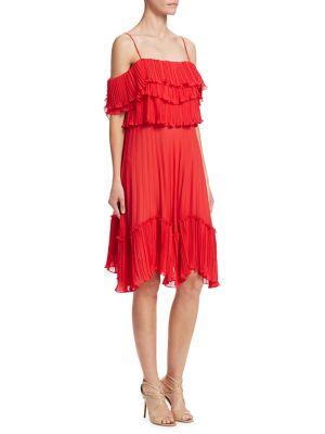 Pleated Cold Shoulder Dress 500088052694