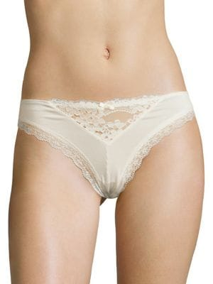 Image of Willow Lace-Trimmed Thong