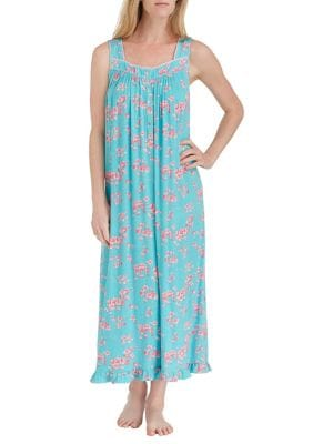 Eileen West FLORAL LONG NIGHTGOWN