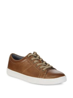 Leather Low-Top Sneakers...