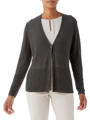 Pointelle Buttoned Cardigan...