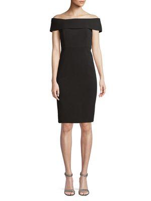 Off-the-Shoulder Sheath Dress 500088076677