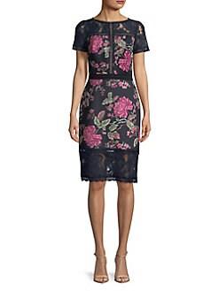 edeb3caadcb QUICK VIEW. Tadashi Shoji. Floral Lace Dress