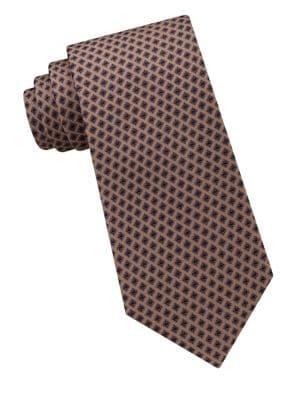Tiled Cubes Silk Tie...