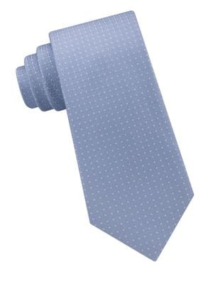 Tonal Square Silk Tie...