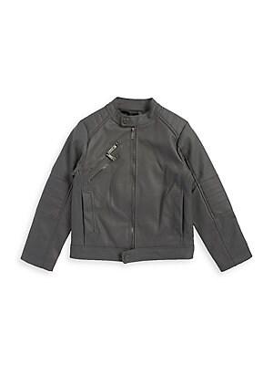 20490d13b0f3 Urban Republic - Little Boy s Faux Leather Hooded Jacket ...