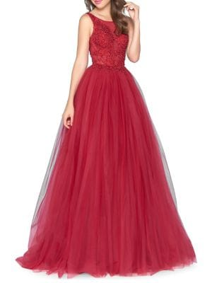 Embellished Tulle Gown 500088097645