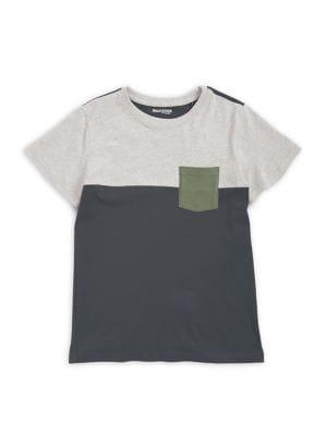 Boy's Colorblock Short-Sleeve...