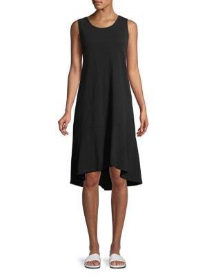 Plus Sleeveless Sharkbite Dress 500088114837