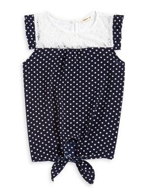 Girl's Polka-Dot Front-Tie...