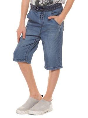 Boy's Pull-On Denim Shorts...