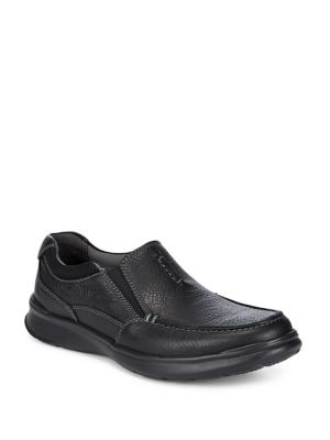 Textured Moc Toe Loafers...