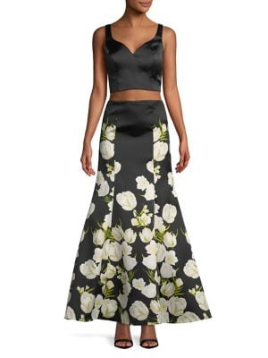 Two-Piece Cropped Top...