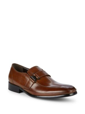 Zap Strap Leather Loafers...
